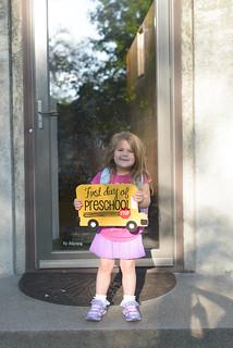 girls first day preschool-5
