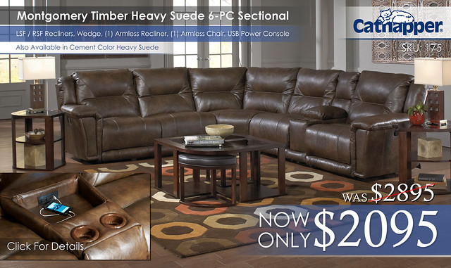 Montgomery Timber 6PC Sectional 175_new