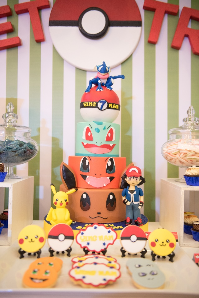 pokemon party cake