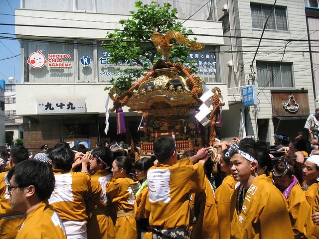 Mikoshi, Sanja Matsuri festival on the streets of Asakusa, Tokyo