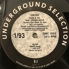V.A.:DMC(UNDERGROUND SELECTION 1:93)(LABEL SIDE-A)