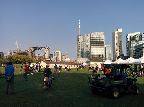 At Fort York underneath the city (5) #toronto #fortyork #skyline #tower #gardinerexpressway