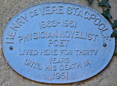Photo of Henry De Vere Stacpoole blue plaque