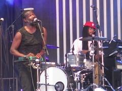 """TV on the Radio - Tunde Adebimpe (Babatunde Omoroga """"Tunde"""" Adebimpe), David Sitek, Kyp Malone (David Kyp Joel Malone) & Jaleel Bunton"""