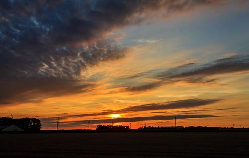 Beautiful sunset at 8:50 PM