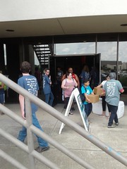 Outside 6Stones Saturday August 12, 2017 for Operation Back2School.