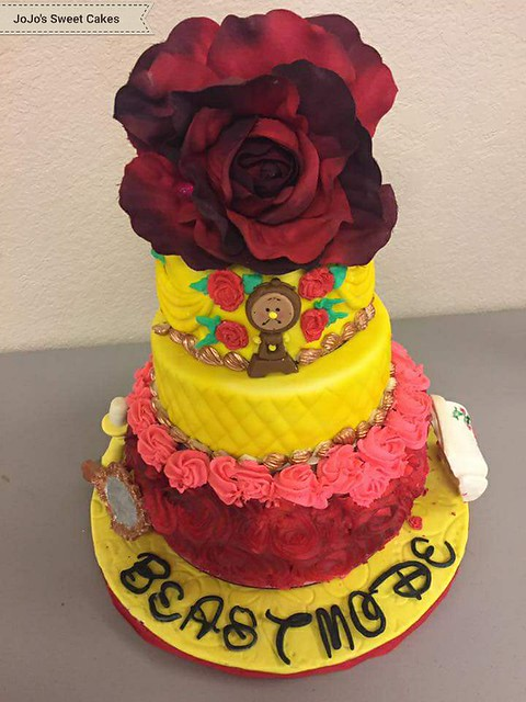 Beauty and the Beast Cake by JoJo's Sweet Cakes