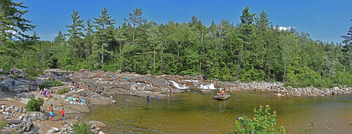 newhampshire river people panorama water landscape outdoors nature