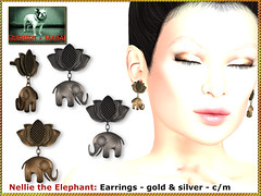 Bliensen - Nellie the Elephant - Earrings