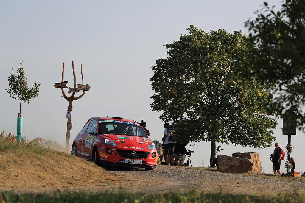 45 KUPEC Radomir (CZE) GLOSSL Petr (CZE) Opel Adam R2 action during the 2017 European Rally Championship ERC Barum rally,  from August 25 to 27, at Zlin, Czech Republic - Photo Jorge Cunha / DPPI