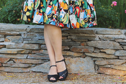 J.Crew off-the-shoulder ruffle-hem dress in postcard print