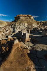 Hoodoos in the Bisti Badlands