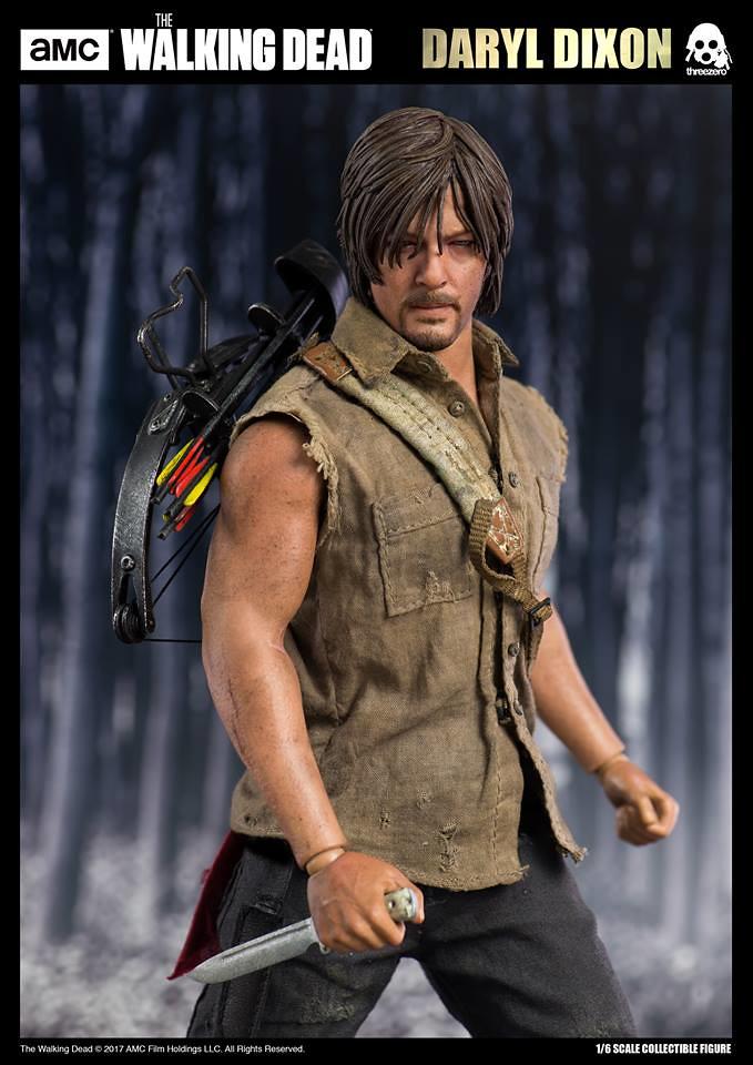 ThreeZero 1//6 AMC The Walking Dead Daryl Dixon Norman Reedus Figure Exclusive