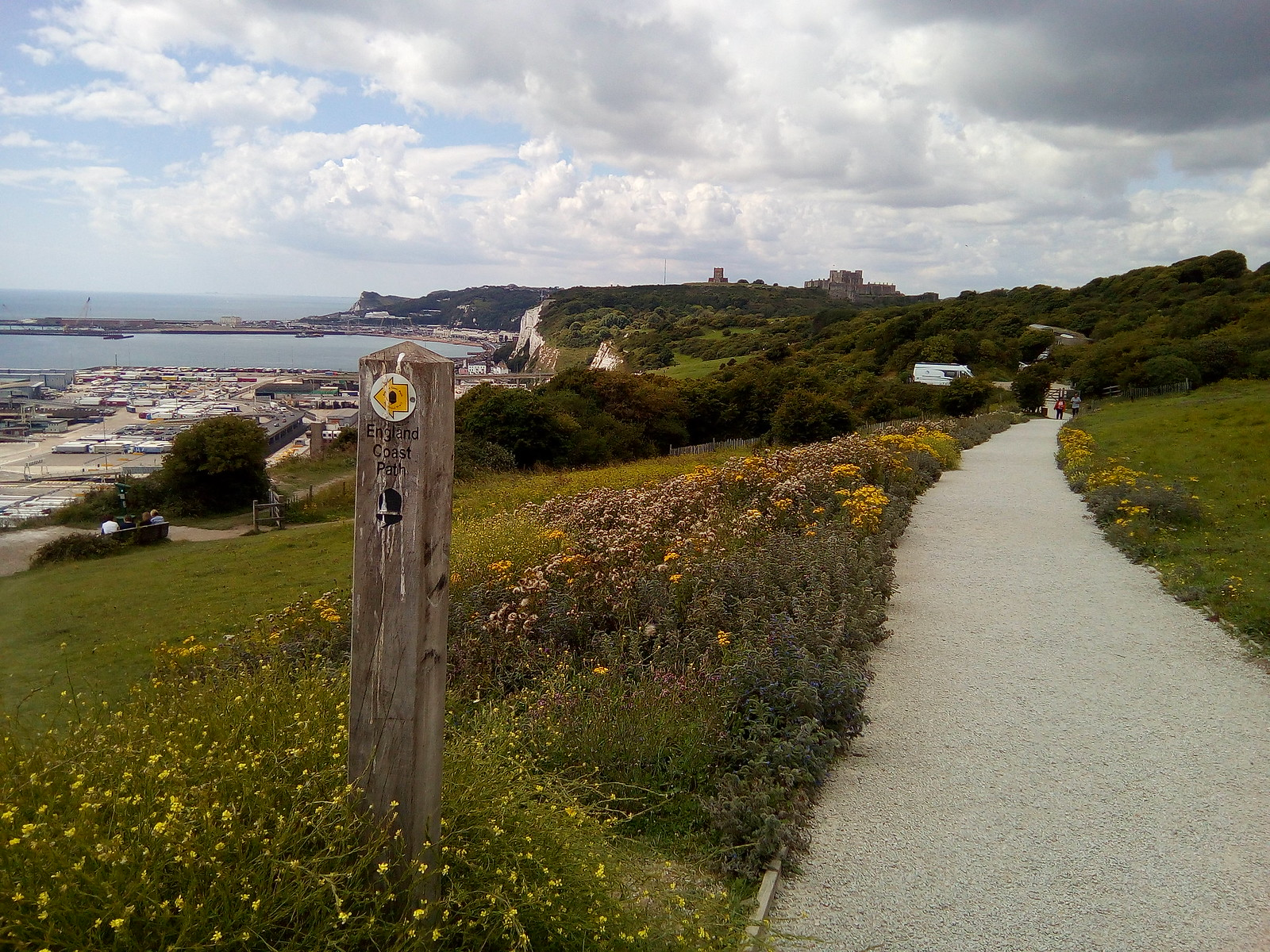 Dover Castle From the easterly assent out of Dover