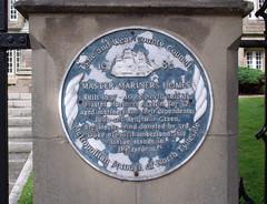 Photo of Master Mariners Homes, John Green, and Benjamin Green blue plaque