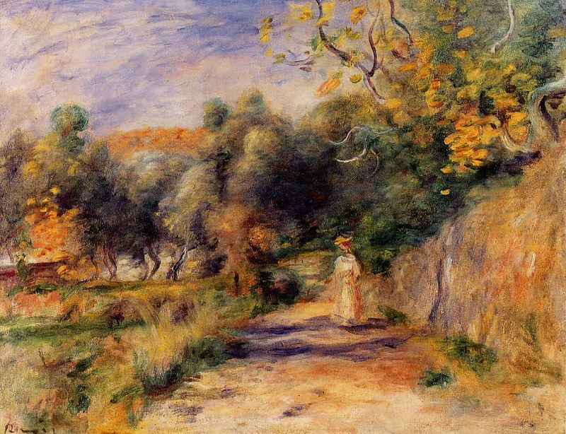 Landscape at Cagnes by Pierre Auguste Renoir, 1908