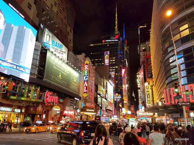 Times Square night time streets