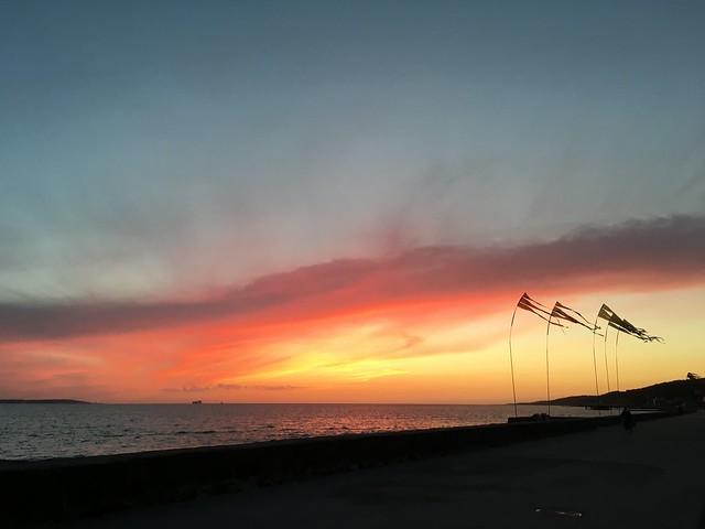 saturday, sunset with ingrid, helsingborg
