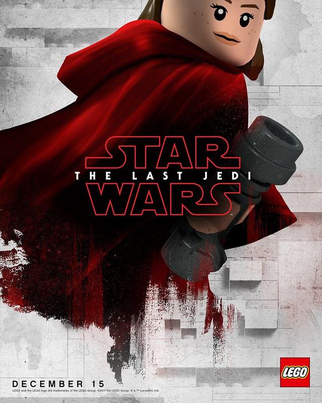 Plakaty LEGO z postaciami Star Wars The Last Jedi 2