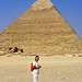 Me in front of the Pyramid of Chefren by berniedup