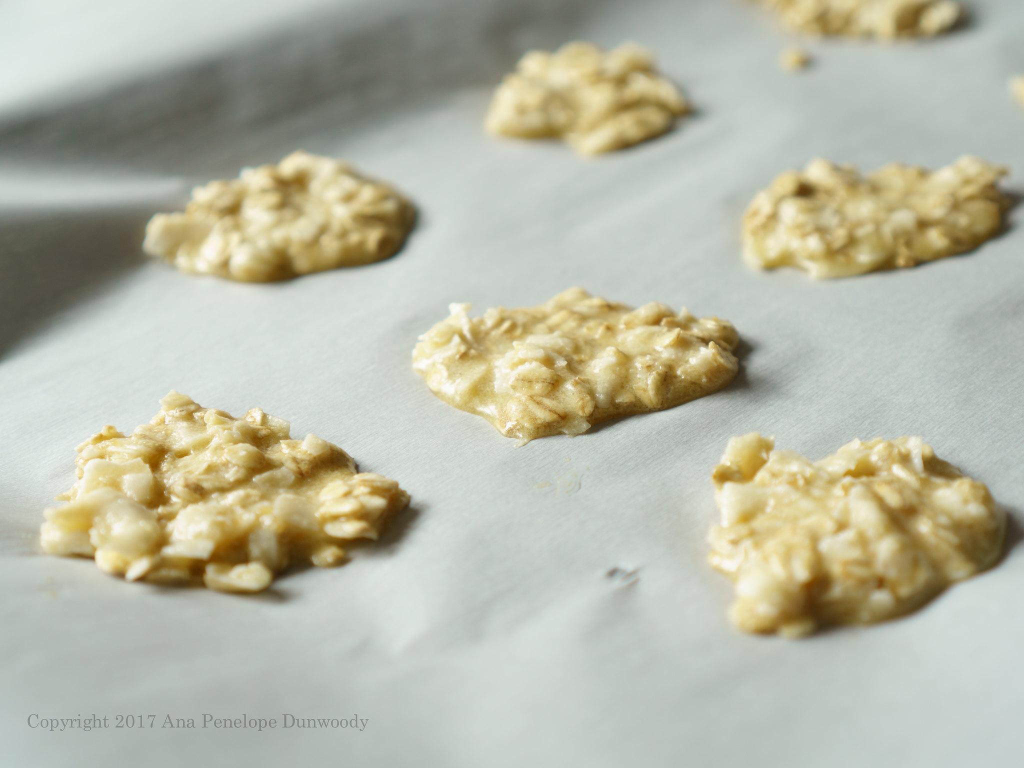 Coconut Oat Drop Cookies Unbaked