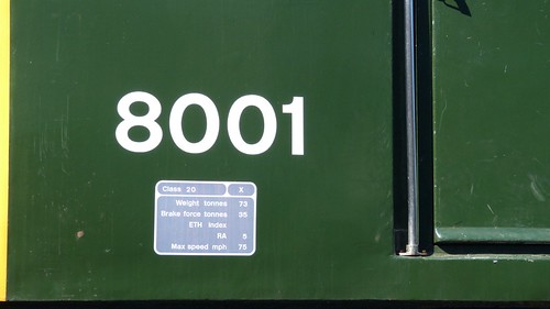 8001 'British Rail' Class 20 loco /2 on Dennis Basford's railsroadsrunways.blogspot.co.uk
