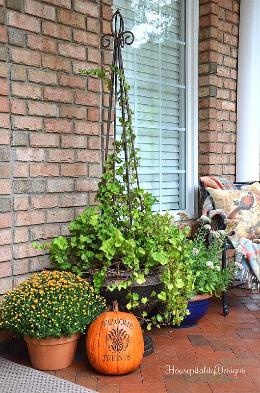 Fall Porch 2016-Mums-topiary-Housepitality Designs