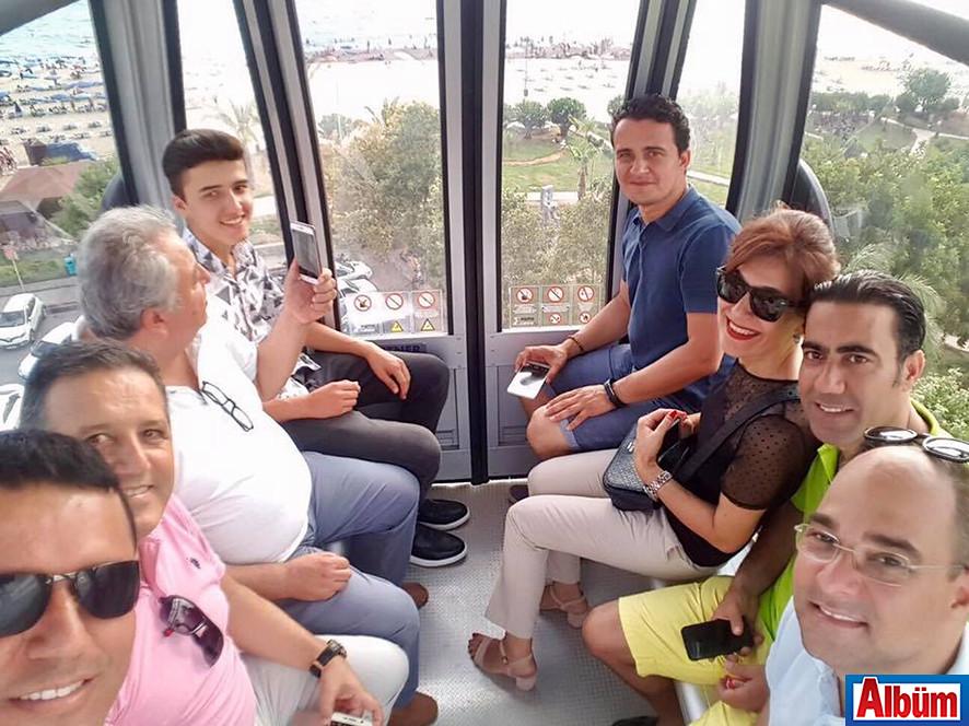 ALTAV yöneticileri Alanya'daki teleferiğin ilk turuna katıldılar.