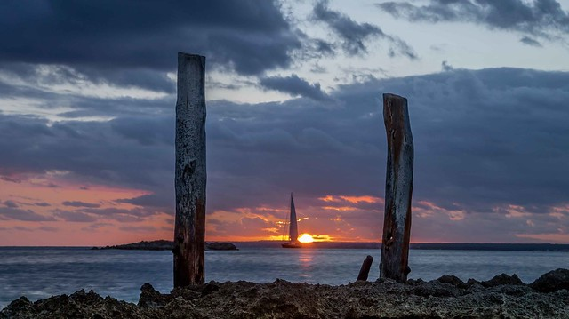 Sunset at Colonia de, Panasonic DMC-G3, Lumix G Vario 14-42mm F3.5-5.6 Asph. Mega OIS
