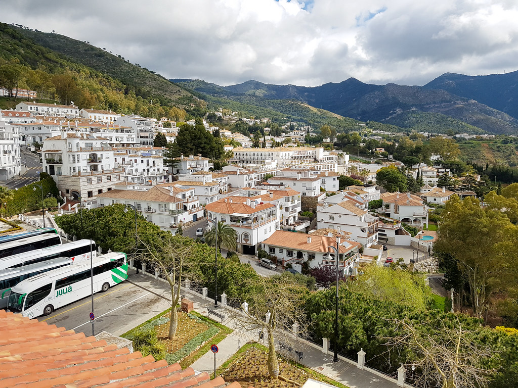 View over the white village of Mijas Pueblo