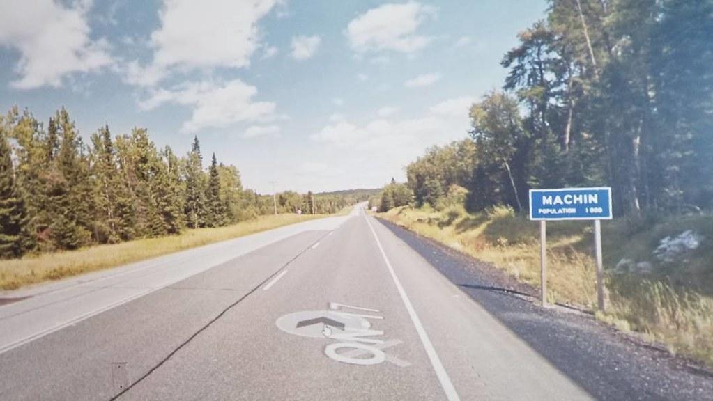 Manchin, ON. Population 1000. #ridingthroughwalls #xcanadabikeride #googlestreetview #ontario