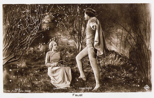 Camilla Horn and Gösta Ekman in Faust (1926)