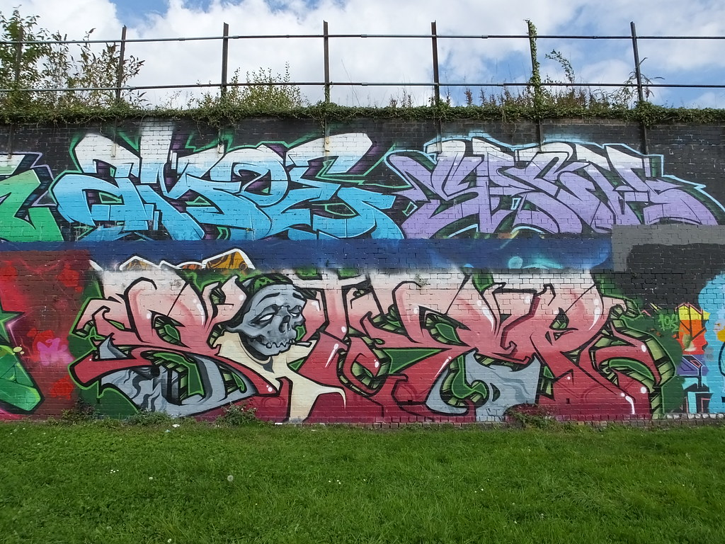 Street art Sevenoaks Park, Cardiff