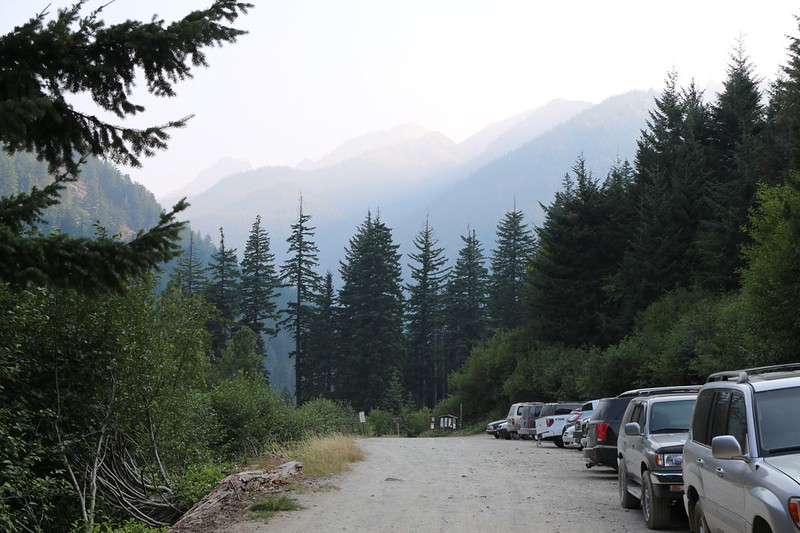We left the car at the Phelps Creek Trailhead, which is where we planned to exit the wilderness 10 days later