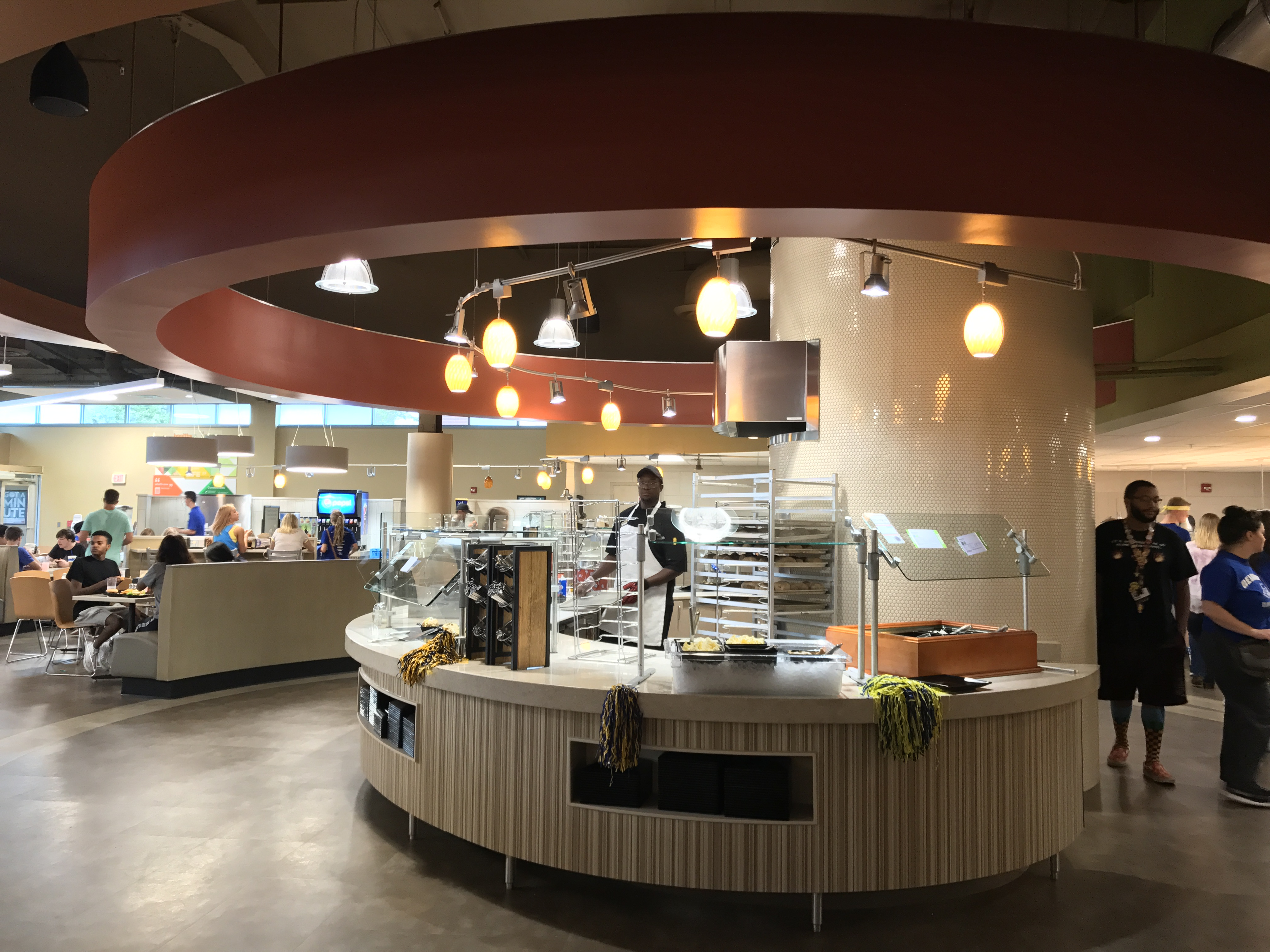 Students react to the newly-renovated Russell Residential Dining