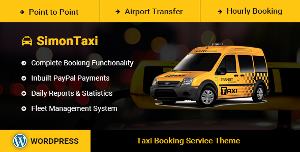 SimonTaxi v1.0 – Taxi Booking WordPress Theme