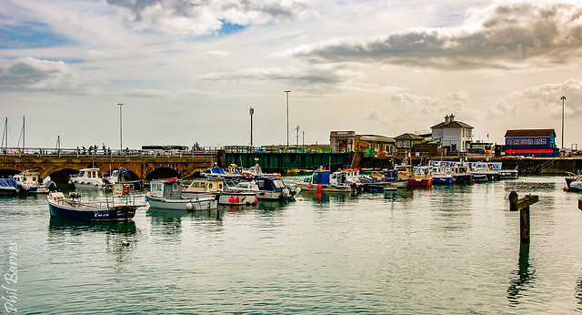 Boats lined up! Folkestone