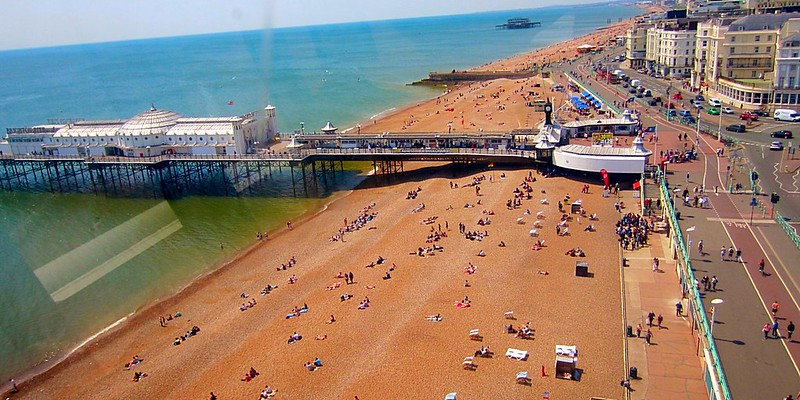 Brighton Beach famous English resort