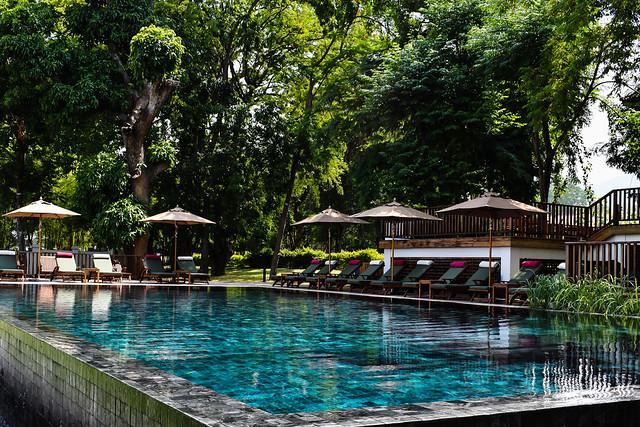 Shady Swimming Pool at Sanctum Inle Resort