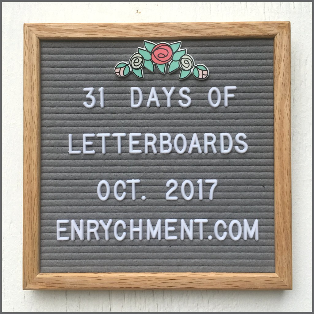 31 Days of Letterboards