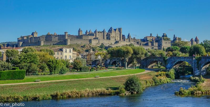 Puente Viejo en Cite de Carcassonne, Francia