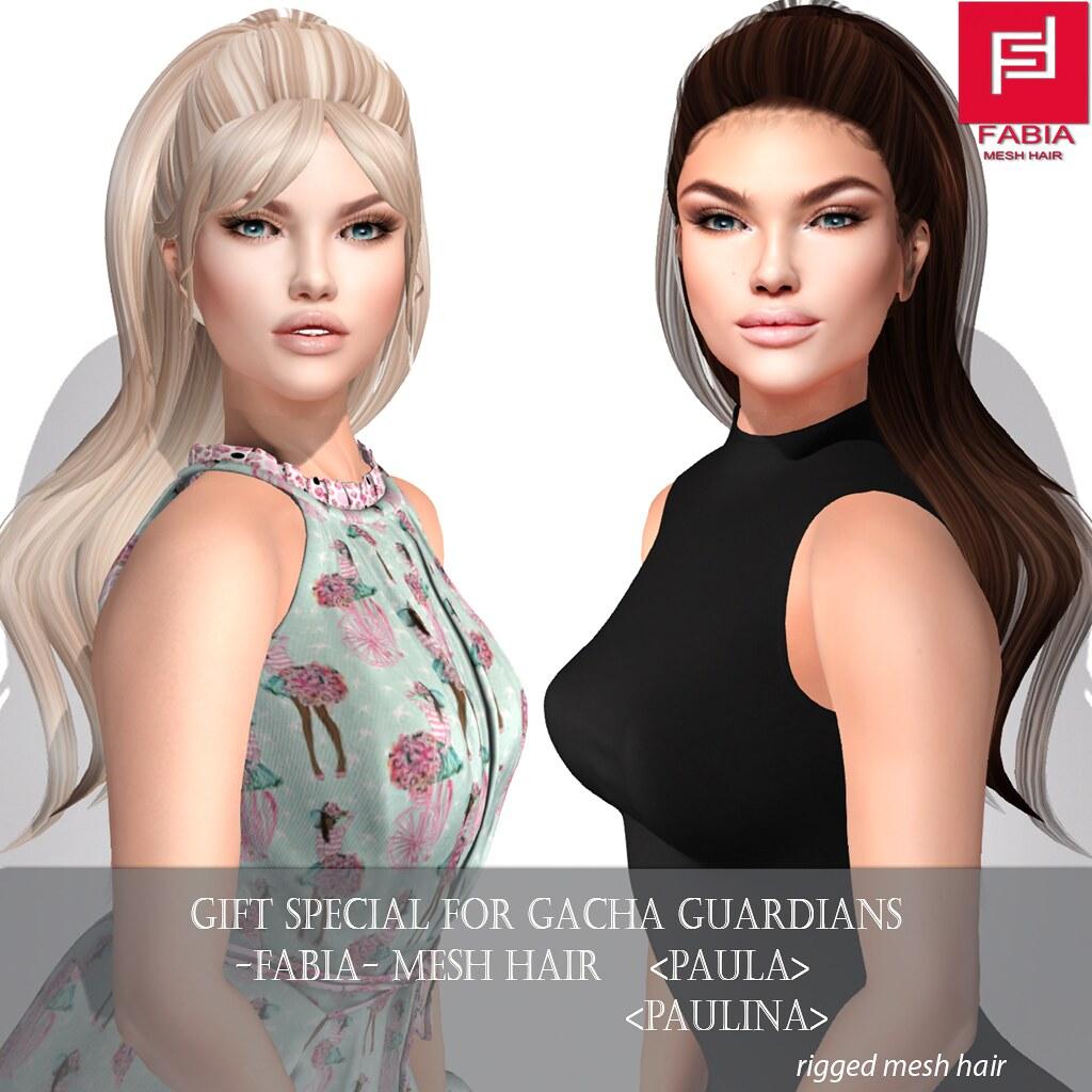 -FABIA- Mesh Hair Gacha Gift   <Paula/Paulina> - TeleportHub.com Live!