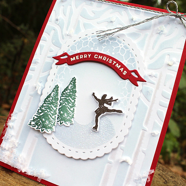 Christmas Figure Skater Card 2