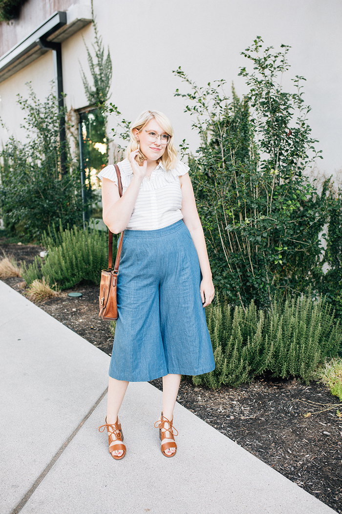 austin fashion blog writes like a girl modcloth chambray culottes9