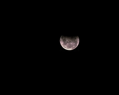 Partial Lunar Eclipse at South Pole