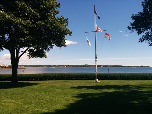 Flags by Charlottetown Harbour #pei #princeedwardisland #charlottetown #fanningbank #flags #charlottetownharbour