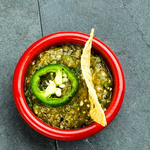 Salsa Verde with Roast Tomatillos
