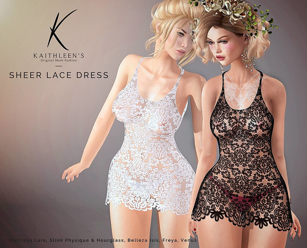 Kaithleen's Sheer Lace Dress - SecondLifeHub.com