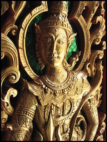 Wat Vichit Sangkaram - Door Carving