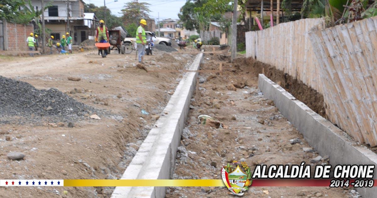 A buen ritmo los trabajos en la calle Salustio Giler